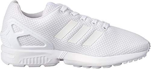 Adidas ZX Flux J, Zapatillas Unisex Niños, Blanco (Footwear White/Footwear White/Footwear White 0), 38 EU