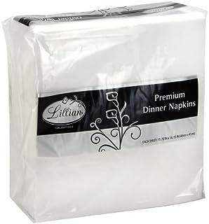 Premium White Napkins, Large Dinner/Beverage Everyday Napkin, 3 Ply Paper White, Value Pack (75)