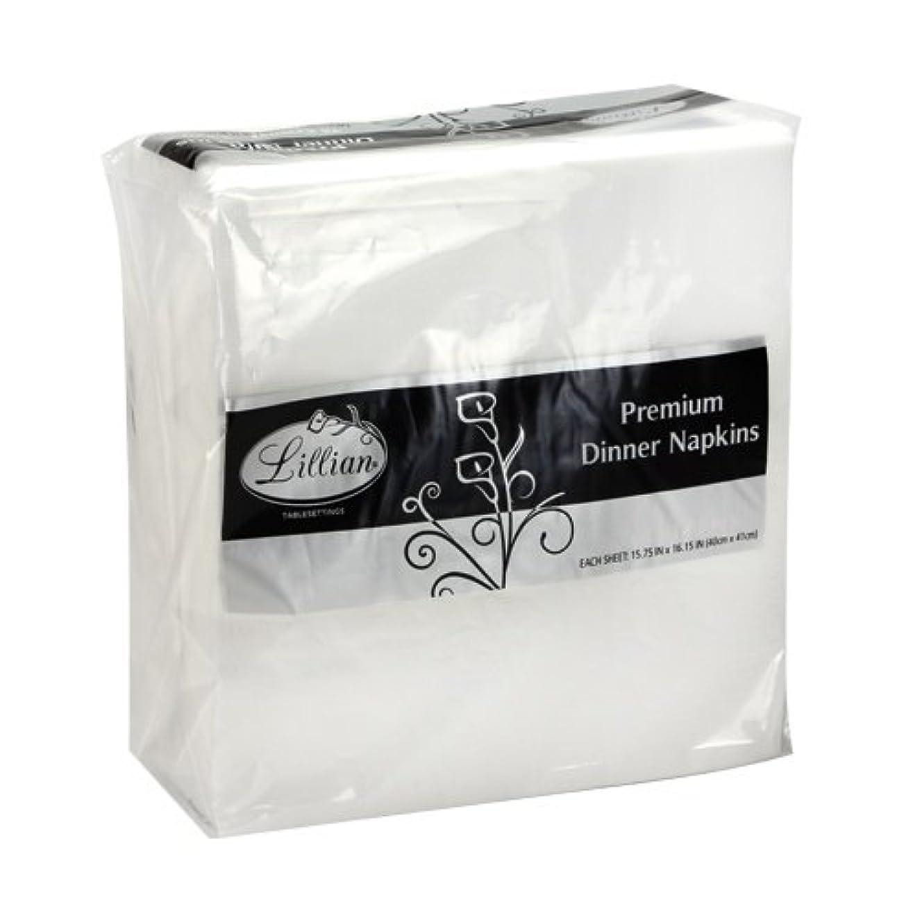 Lillian Tablesettings Premium White Napkins, Large Dinner Napkin, 3 Ply Paper White, 75 count
