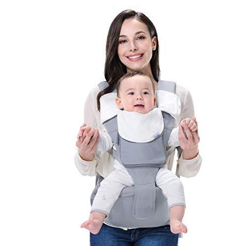 XBYEBD Babytrage, Multifunktionsgurt Für Neugeborene, Ergonomische Babytrage Für 0-36 Monate, Mehrfarbig Optional (Color : Gray)