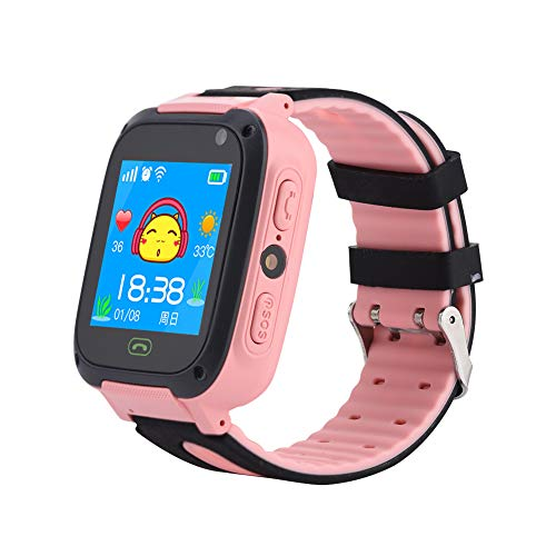 DeWin Montres intelligentes d'enfants avec l'appareil-Photo de LBS, Montre bidirectionnelle de téléphone Portable d'appel pour Les Enfants IP67 imperméables
