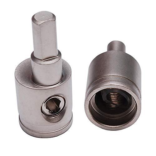 Pair of Car Audio 1/0 Gauge to 4 Gauge Amp Input Reducers (silver)