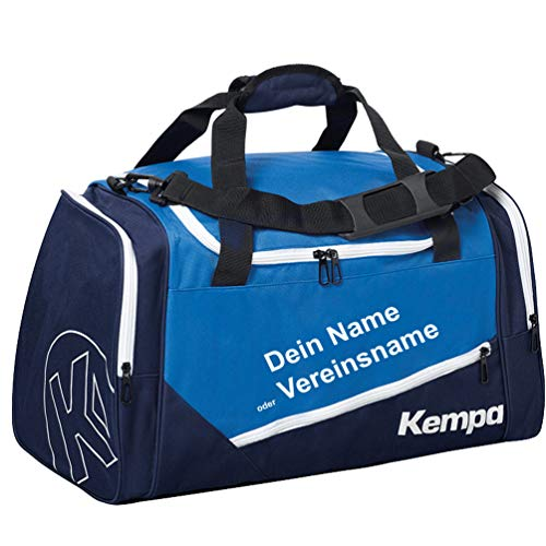 Kempa Handball Sporttasche 56 x 27 x 32 cm 50 Liter blau inklusive Aufdruck Name