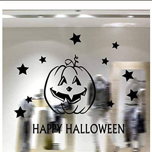 Wall Sticker Decal Happy Halloween Showcase Decorazione Della Casa Decorazione Della Casa Specchio 58X31 Cm Decorazione Della Parete Della Casa Murale