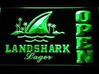 Landshark Open LED看板 ネオンサイン ライト 電飾 広告用標識 W40cm x H30cm グリーン