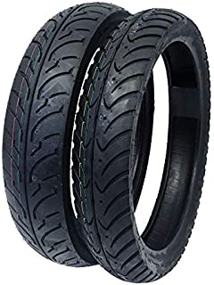 MMG Tire Tube Type Combo Front Tire 80/80-16 and Rear Tire 100/80-16 Motorcycle Scooter Street Performance