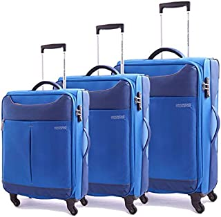 American Tourister Luggage Set Trolley Bags, 3 Pcs, Black, Unisex
