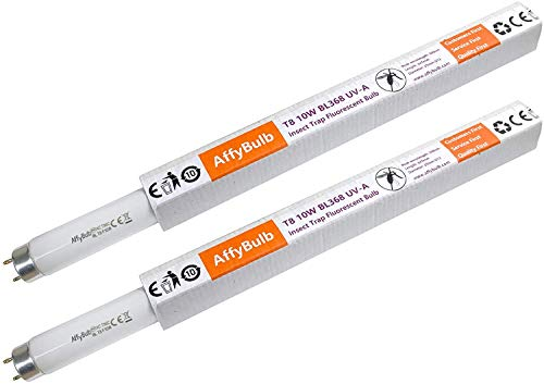 AffyBulb 2 bombillas UV BL368 de 10 W T8 – Bombillas de repuesto de 13 pulgadas para 20 W Bug Zapper/Insectos asesinos …