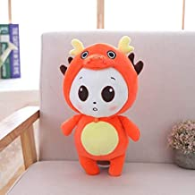 MANGMOC 1Pc 38Cm Cute Nese Zodiac Plush Toy Soft Animal Mouse Cattle Tiger Rabbit Dragon Snake Horse Sheep Monkey Ck Dog Pig Doll Holiday Must Haves Friendship Gifts The Favourite Anime