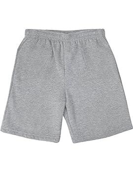 Ma Croix Mens Brushed Sweat Shorts  Small 1IHA0004_Heather Gray