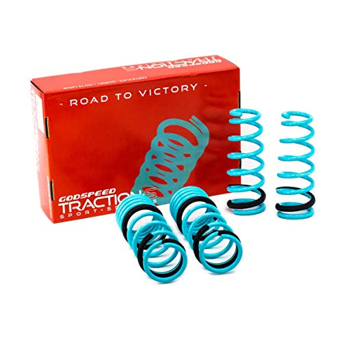 Godspeed LS-TS-HA-0003-A Traction-S Performance Lowering Springs, Set of 4, compatible with Honda Accord (CM) 2003-2007