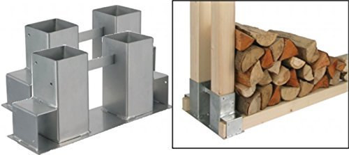 Gravidus 2er Set Stapelhilfe für Kamin und Brennholz Holzstapelhalter