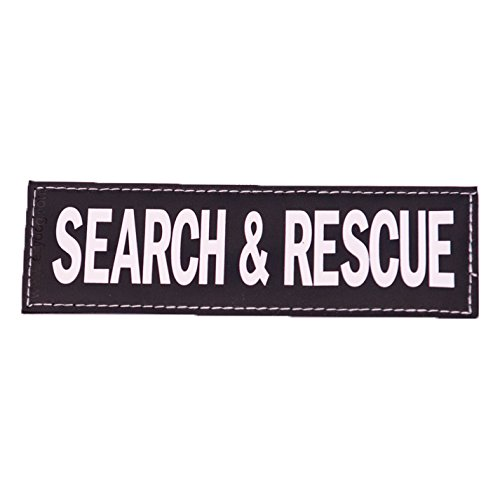 EzyDog Side Badge - Clearly Identifies Your Dog When Wearing The Convert Dog Harness - Set of Two Badges (Search and Rescue, Large)