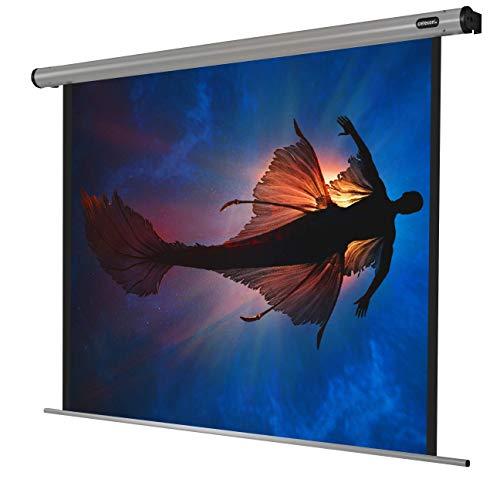 celexon motorisierte Heimkino- und Präsentations-Beamer-Leinwand Wand-oder Deckenmontage elektrische Leinwand Motor Home-Cinema - 160 x 160 cm - 1:1