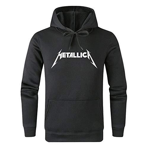 Dooljhjyr Metallica Pullover Leichte atmungsaktive einfache Art-Kapuzenpullis Sweatshirts Klassische Druck Pullover Unisex (Color : Dark grey01, Size : Height-180cm(Tag XL))