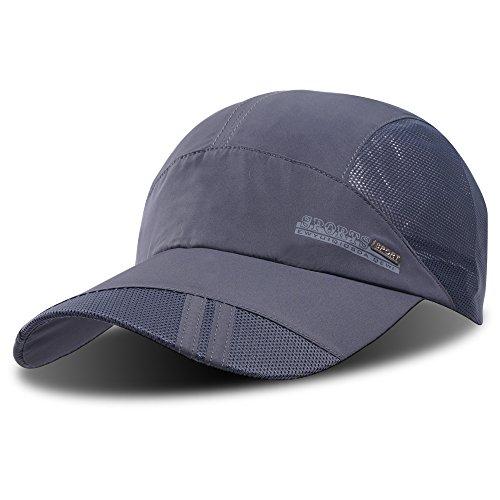Baseballkappe, Outdoor-Cap zum Laufen, schnelltrocknend, atmungsaktiv, Unisex, von ZEARE, dim gray