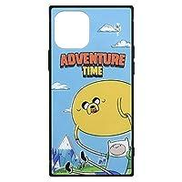 グルマンディーズ アドベンチャー・タイム iPhone12/12 Pro(6.1インチ)対応 スクエアガラスケース フィン&ジェイク A ADT-33A