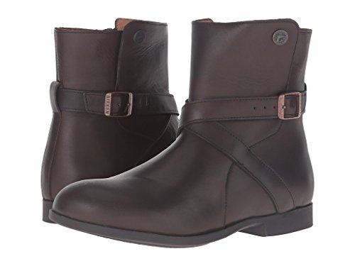 Birkenstock Womens Collins Boots Dark Brown Leather Size 36 EU (5-5.5 M US Women)