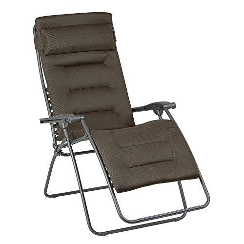 Lafuma Großer Relax-Liegestuhl, Klappbar und verstellbar, RSX Clip XL, Air Comfort, Taupe, LFM2041-8719