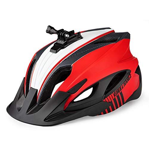 XZ Adult Cycling Bike Helmet | Mountain Bike Helmet, Adjustable Lightweight Bicycle Helmet 58-62cm, Detachable Brim, Five Flash Modes