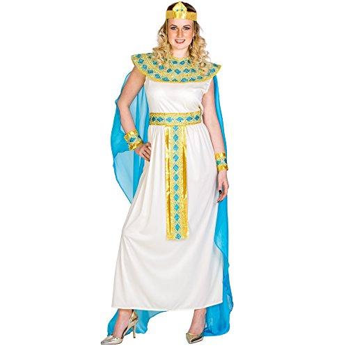 TecTake dressforfun Disfraz de Cleopatra para Mujer Reina Diosa | Vestido con Cinta de Pelo Muy Extravagante, Adorno de Cabeza Egipcio & Adorno para la muñeca (XL | no. 300197)