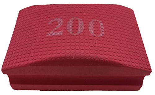 PRODIAMANT Profi Diamant-Handschleifpad/Schleifschwamm Körnung 200 zum schleifen, entgraten und polieren von Fliesenkanten