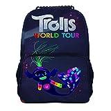 TRO-lls Wor-ld to-ur Mochila de viaje de moda para hombres y mujeres, mochila escolar clásica de 40,6 cm para estudiantes (15,7 x 11 pulgadas), Negro-estilo1-5 (Blanco) - IWEOJWIOJGW
