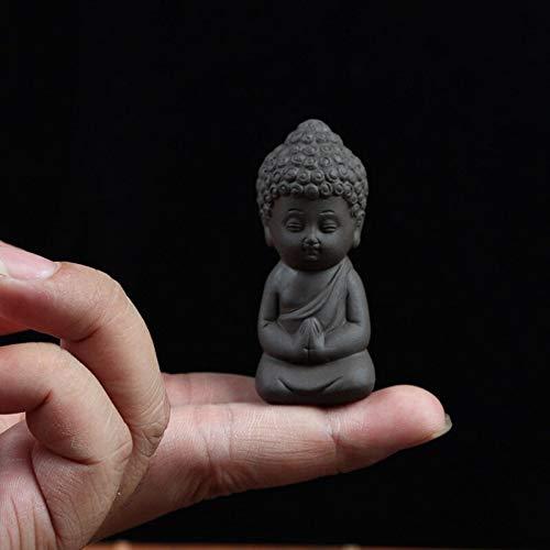 Vioaplem Mini Jardín Accesorios Buda Estatua cerámica