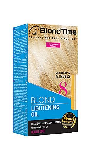 Huile éclaircissante pour les cheveux, éclaircit jusqu'à 4 niveaux, décolorant pour les cheveux, 180 ml