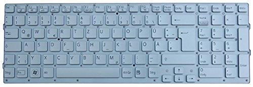NExpert deutsche QWERTZ Tastatur für Sony Vaio VPC-CB VPCCB2S1E VPCCB3S1E VPCCB4Z1E Series Silber Neu ohne Rahmen
