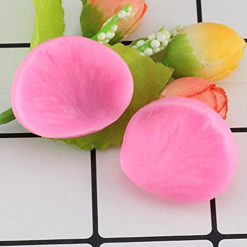 UNIYA 3D Rose Flower Petals Embossed Silicone Mold Relief Fondant Cake Decorating Tools Chocolate Candy Clay Moulds