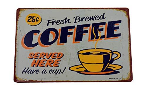 Placa Metal Vintage Coffee  marca H&K