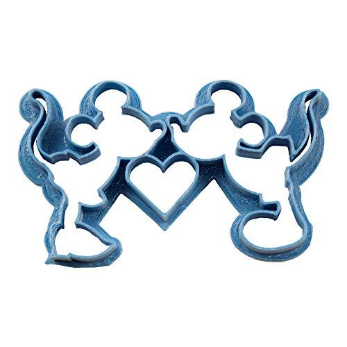 Cuticuter Mickey Y Minnie Cortador de Galletas, Azul, 8x7x1.5 cm