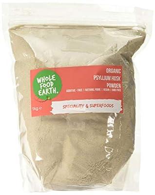 Wholefood Earth - Organic Psyllium Husk Powder - GMO Free - Vegan - Raw - Additive-Free - Natural Fiber - 1kg