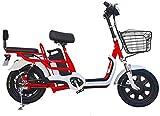 """Bicicletas Eléctricas, 16"""" Ciudad de bicicleta eléctrica doble de bicicletas de montaña 350W 48V 15 Ah extraíble de iones de litio de la batería puede soportar 200 kg de coche bloqueo remoto de cercan"""