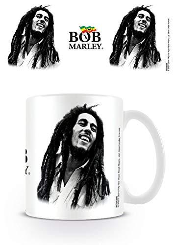 1art1 Bob Marley, B&w Foto-Tasse Kaffeetasse (9x8 cm) Inklusive 1x Überraschungs-Sticker
