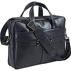 commercial Men's Leather Shoulder Bag, 15.6-inch Laptop Briefcase Business Bag Computer Bag… bags for ipads