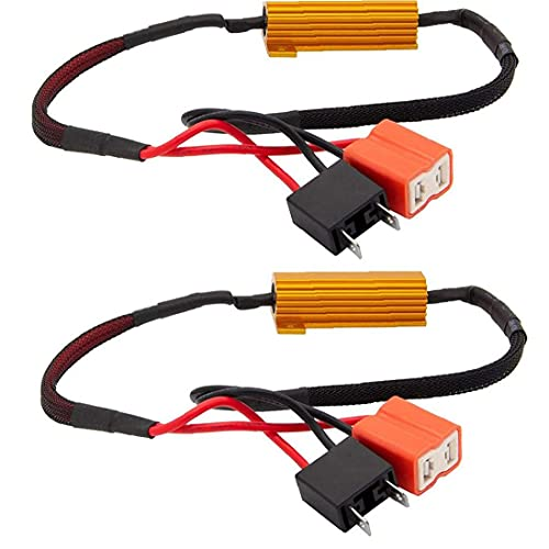 LED Resistor de carga CANBUS Decoder H7 50W 6OHM Error anti-parpadeo Gratis para parpadeo Hyper Flash 2pcs altavoz