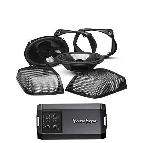 Rockford Fosgate TMS69BL14 Power Harley-Davidson Rear Audio Kit (2014+) Bundled w/Rockford Fosgate T400X4ad Power 400 Watt Class-ad 4-Channel Amplifier