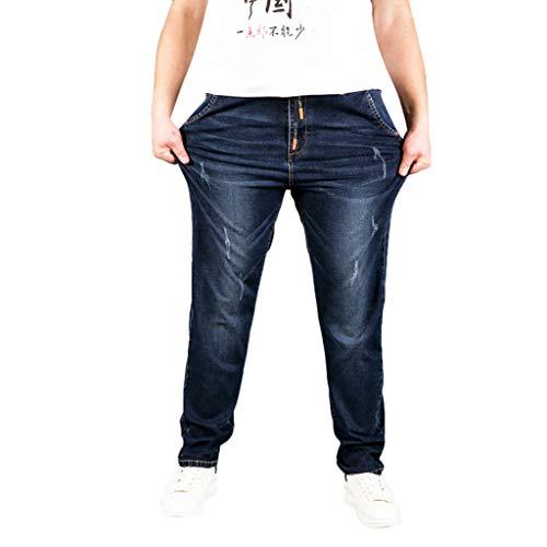 NUSGEAR VPASS Pantalones Vaqueros para Hombre, Pantalones Hombre Tallas Grandes Pantalones Casuales Moda Jeans Sueltos Ocasionales Elásticos Pantalon Fitness Pants Largos Pantalones Ropa de Hombre