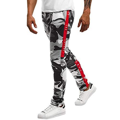 Cinnamou Nouveau Pantalons de survêtement de Sport pour Hommes Pantalons Pantalons Longs Survêtement Fitness Jogging en Printemps