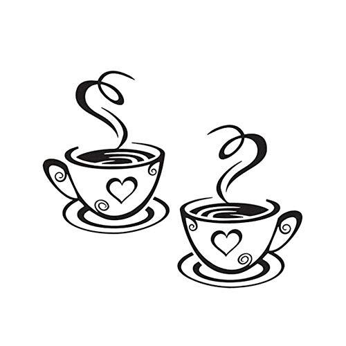 Naldesa Küche Kaffe Coffee Tasse Wandtattoo Wandsticker Aufkleber Küche Sticker