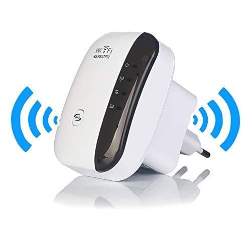 Wifi-range verlenging, 2,4G-5G draadloze signaalbooster en repeater (tot 300 Mbit/s snelheid), ondersteuning van de WPS-encryptie, ter verbetering van het thuissignaal.