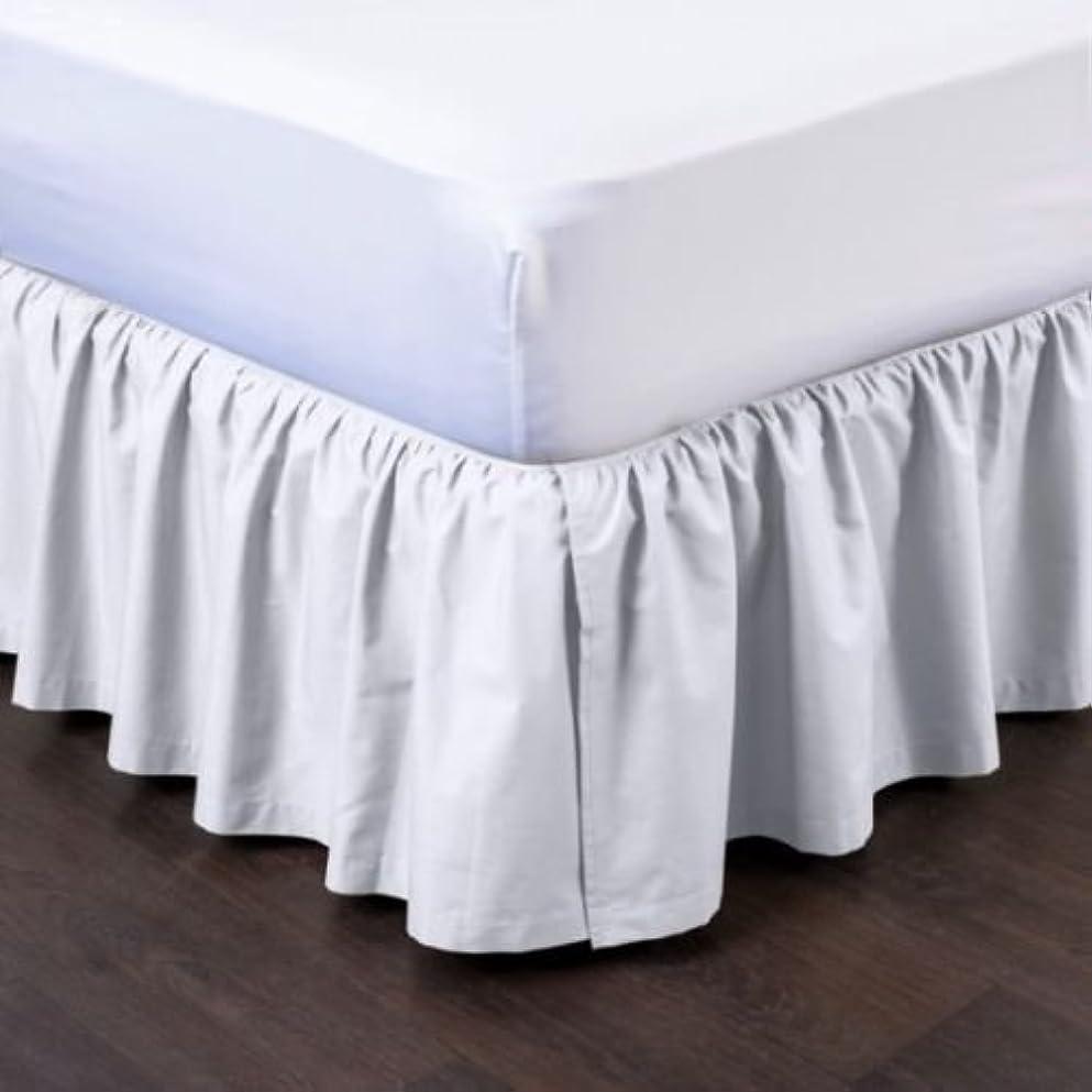 個人カラスラップトップ新しいモダンソリッドダスト用フリル付き分割コーナー1pcベッド寝具プリーツスカート14?cmドロップ キング ホワイト