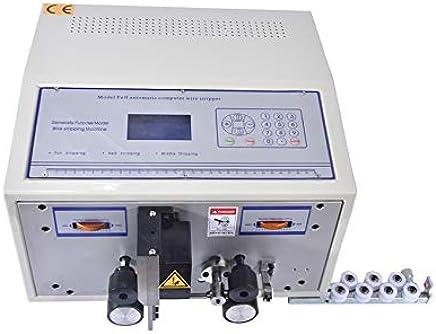 Huanyu 自動ケーブル剥離機 ケーブルストリッパー 電気 LCD表示 0.1~1mm2断面 0-35mm剥離長さ ケーブル 被覆線 PVC/テフロン/ガラスワイヤー 卓上型 (110V, 切削芯線断面0.1~2.5mm2)
