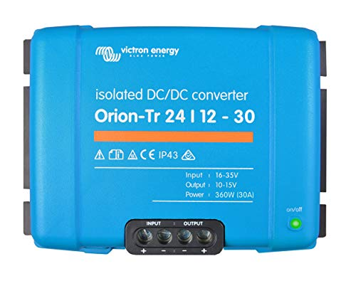 Victron Energy ORI241240110 Orion-TR Isolated DC Converter, De 24 a 12 V-30A (360W)