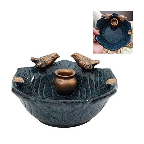 Ccgdgft vogelvorm asbak hars Europese retro landelijke rook dish creatieve persoonlijke salontafel Crafts Decoratie woonkamer kantoor bar decoratie, donkerblauw