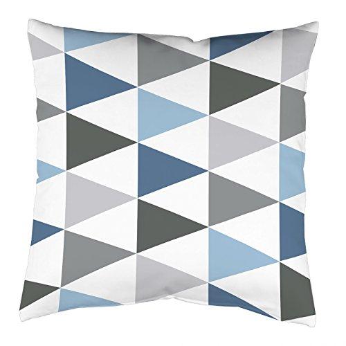 Home Fashion Kissenhülle Digitaldruck, Samt, blau, 1 x 40 x 40 cm