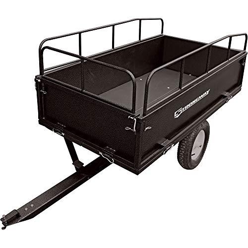 Strongway Steel ATV Trailer - 1200-Lb. Capacity, 17 Cu. Ft.