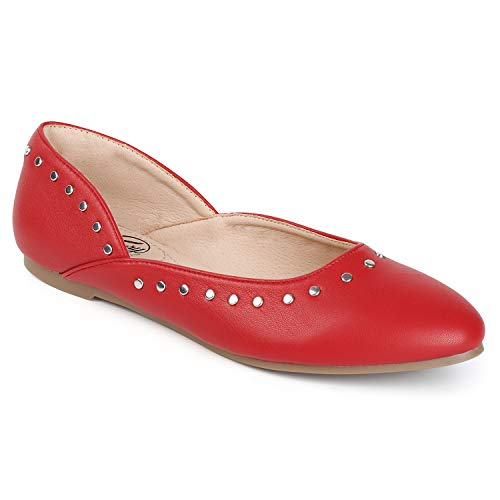 Top 10 best selling list for red studded flat shoes